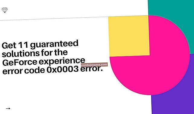 Fix: Geforce Experience Error Code 0x0003