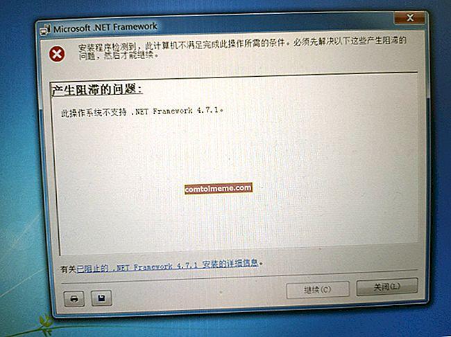 Betulkan: Rangka Kerja .NET 4.7 tidak disokong pada sistem operasi ini