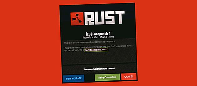 Comment réparer l'erreur 'Steam Auth Timeout' dans Rust