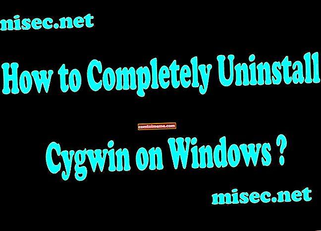 Hoe kan ik: Cygwin op Windows verwijderen